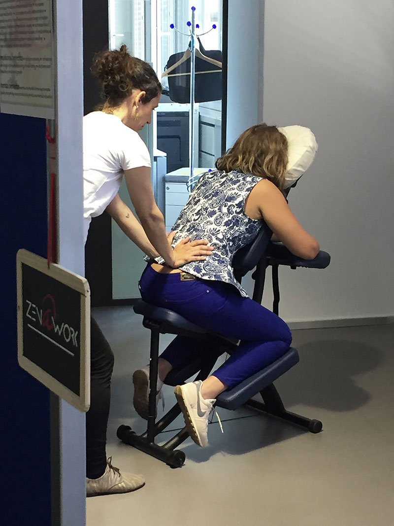 Zen at work – Massage amma au bureau